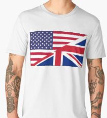 ANGLO, AMERICAN, FLAG, USA, America, Great Britain, Union Jack, Stars & Stripes Men's Premium T-Shirt