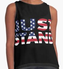 Just Stand for the American Flag and Anthem  Contrast Tank