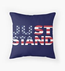 Just Stand for the American Flag and Anthem  Floor Pillow