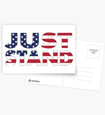 Just Stand for the American Flag and Anthem  Postcards