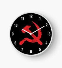 """Russisches kommunistisches """"Hammer & Sichel"""" Emblem (rot) Uhr"""