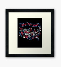 USA Word Map Framed Print
