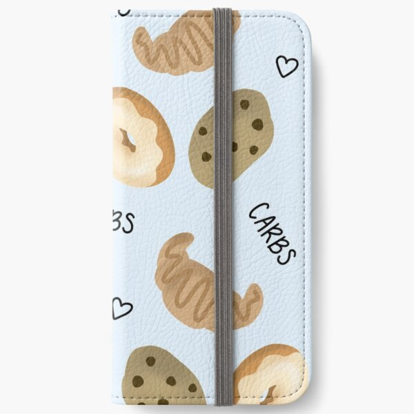 Donut Croissant Cookie Carbs Pattern iPhone Wallet