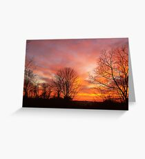 Red, Yellow and Orange Sky Greeting Card