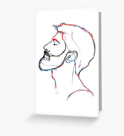 BAANTAL / Hominis / Faces #5 Greeting Card