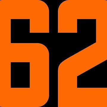 Orange Number 62 by wordpower900