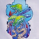 Colorful Magic Mushrooms by RealFreedom