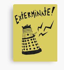 Dalek Doctor Who Stencil-Style Illustration Canvas Print