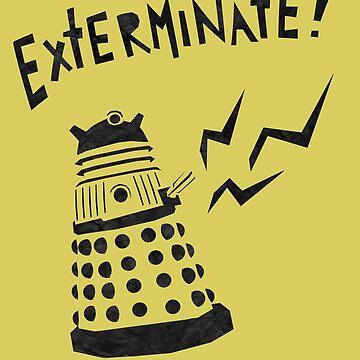 Dalek Doctor Who Stencil-Style Illustration by boypilot