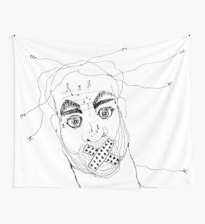 BAANTAL / Hominis / Faces #7 Wall Tapestry