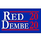 Red Dembe 2020 Election Poster by electrovista