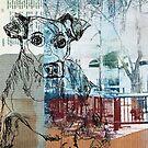 Mixed Media City  Dog by susan stone