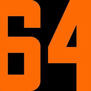 Orange Number 64 by wordpower900