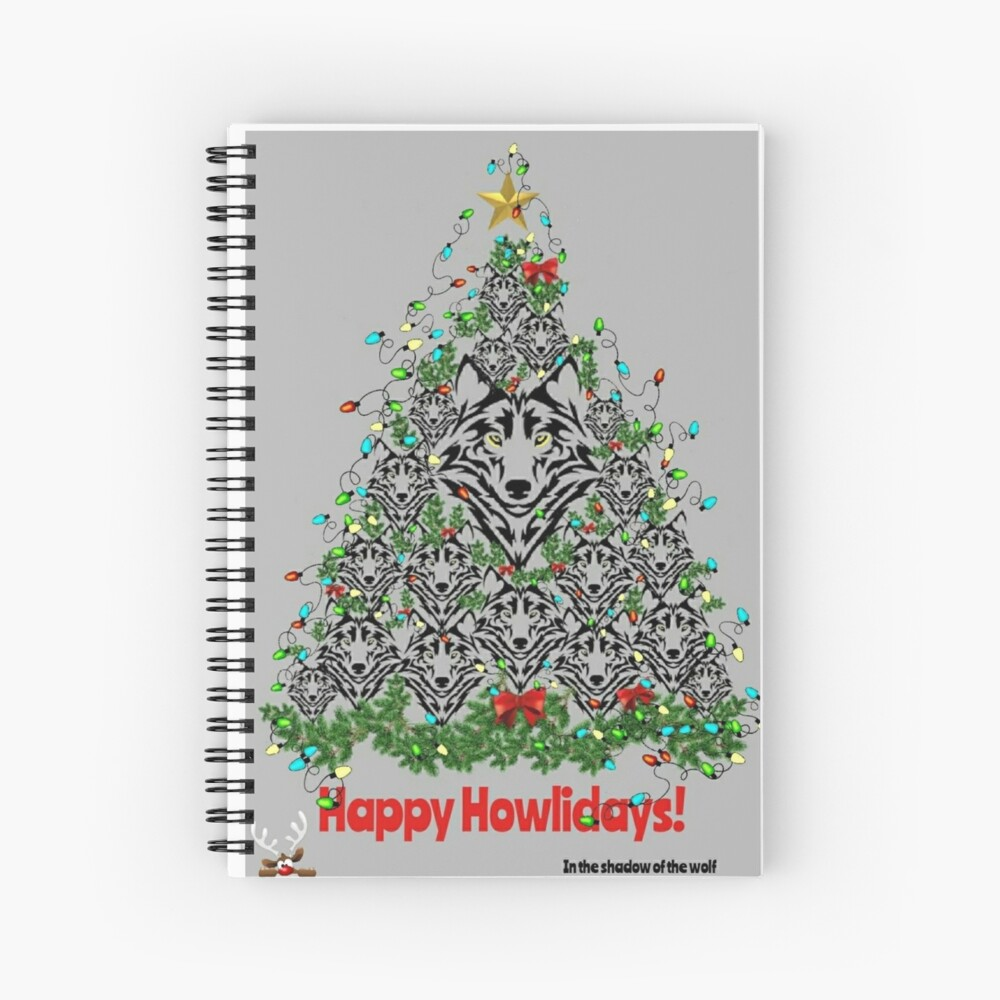 Happy Howlidays!  Spiral Notebook
