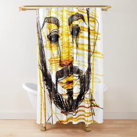 BAANTAL / Hominis / Faces #10 Shower Curtain