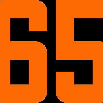 Orange Number 65 by wordpower900