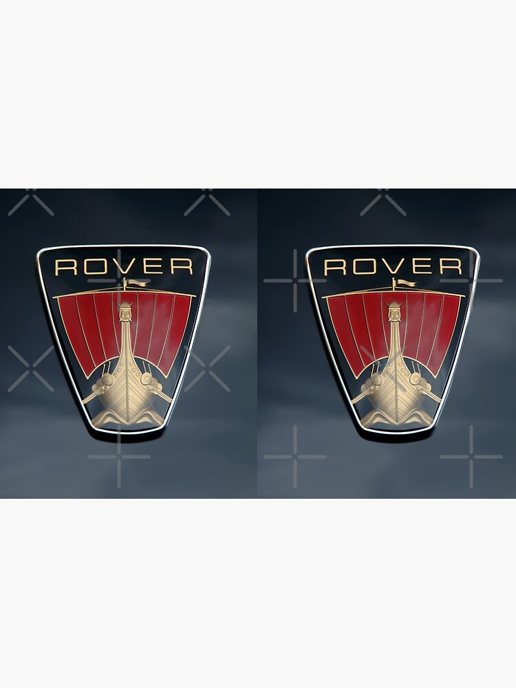 Classic Rover P6 Viking ship badge (black background) by matt145qv