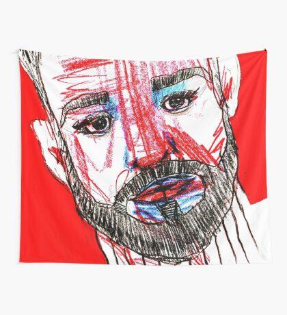 BAANTAL / Hominis / Faces #11 Wall Tapestry