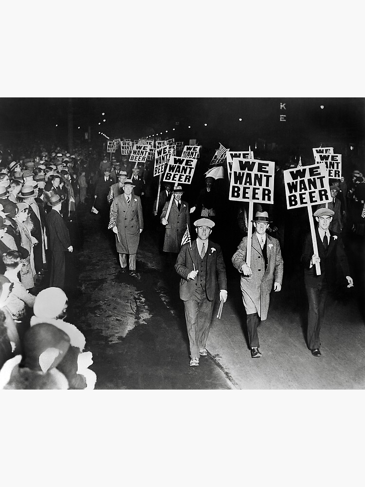 We Want Beer! Prohibition Protest, 1931. Vintage Photo by historyphoto