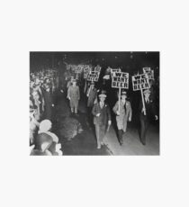 We Want Beer! Prohibition Protest, 1931. Vintage Photo Art Board