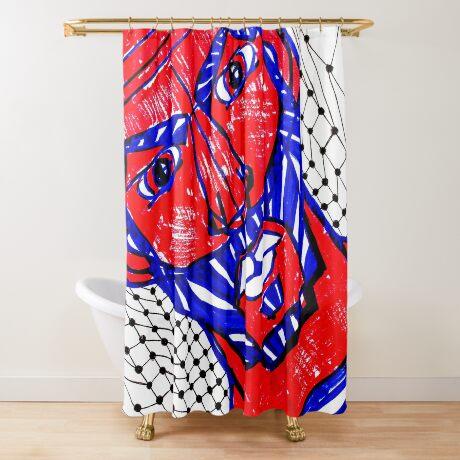 BAANTAL / Hominis / Faces #13 Shower Curtain