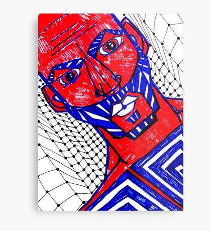 BAANTAL / Hominis / Faces #13 Metal Print