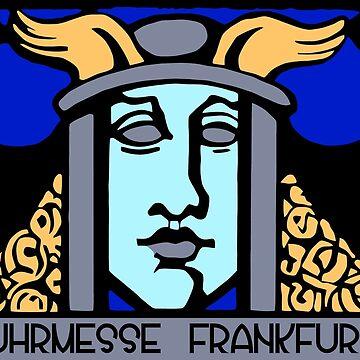 Jugendstil Einfuhrmesse Frankfurt blue by aapshop