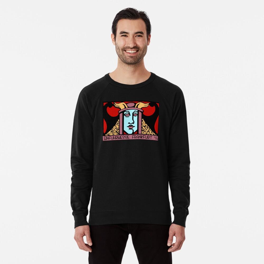 Jugendstil Einfuhrmesse Frankfurt red Lightweight Sweatshirt