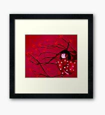 Chasing crane blossom Framed Print