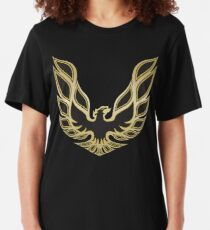 Smokey and the Bandit 1977 Pontiac Firebird Trans-Am Accurate Replica Hood Logo Slim Fit T-Shirt