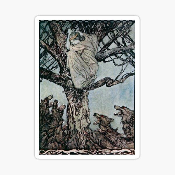 The Wooing of Becfola - Irish Fairy Tales - Arthur Rackham Sticker