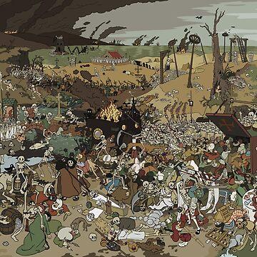 The triumph of death (a cartoon version) by Kravache