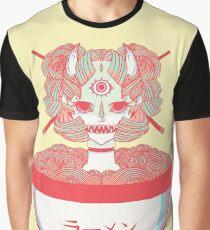 ca8d5cf61 Monster Oni Girl Ramen Noodle Bowl Food Art Graphic T-Shirt