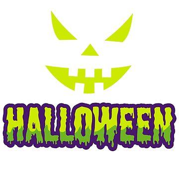 Halloween, Pumpkin Face, Creepy by Shirt-Expert