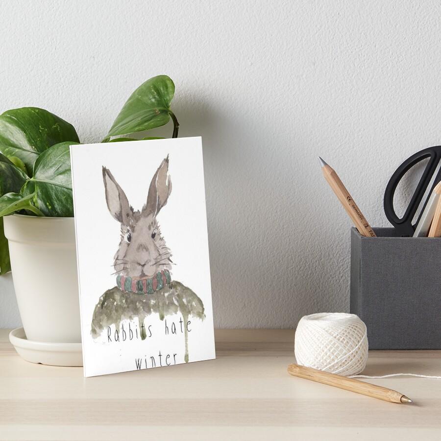 Kaninchen hassen den Winter Galeriedruck