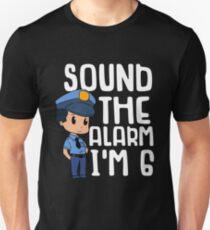 6 Year Old Boy Birthday Gift Policeman Police Unisex T Shirt