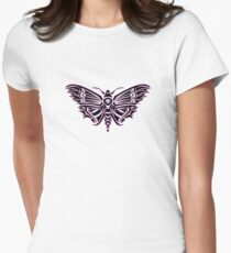 Death Moth ULTRA VIOLET Womens Fitted T-Shirt
