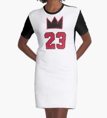 MJ Crown 23, pocket - 1 Graphic T-Shirt Dress