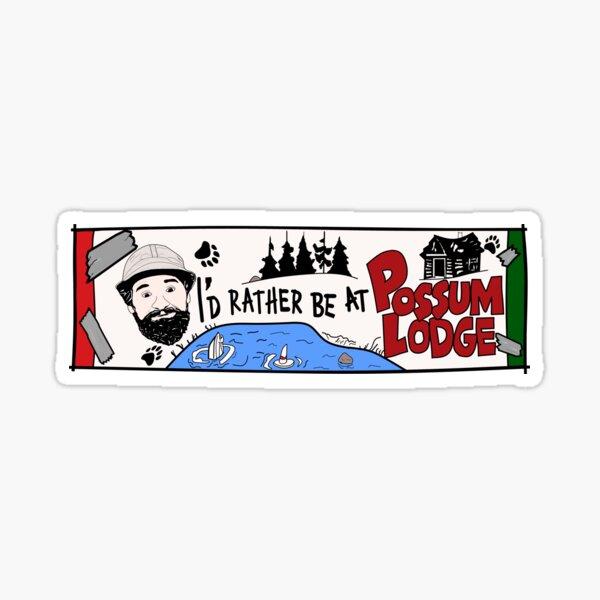 Possum Lodge. Sticker