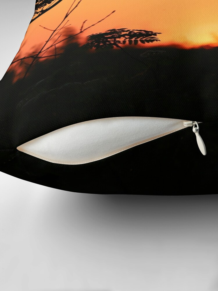 Alternate view of Burning Sky Throw Pillow