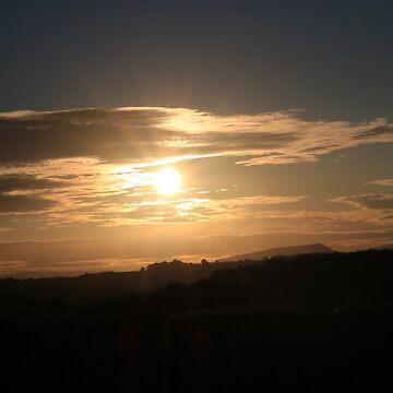 Sunset over the Skirrid by missmoneypenny