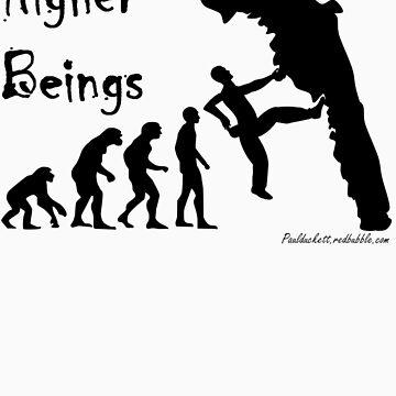 Higher Beings - Black Text by PaulDuckett