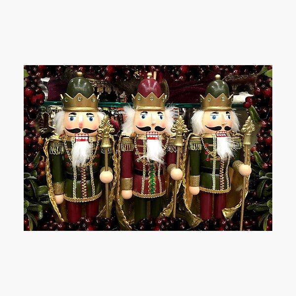 Christmas Nutcracker Trio Photographic Print