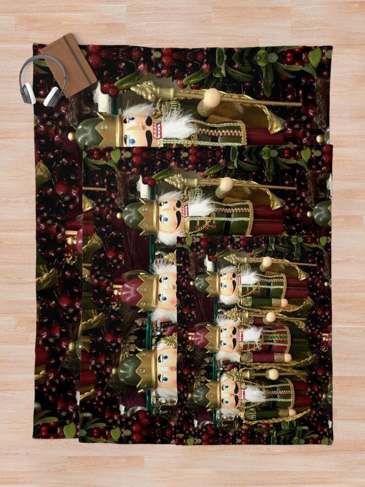 Alternate view of Christmas Nutcracker Trio Throw Blanket