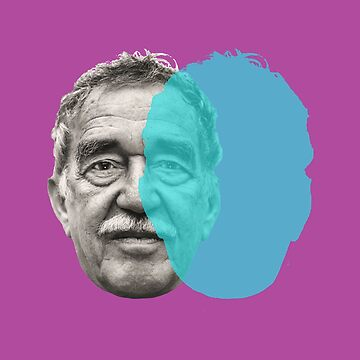 Gabriel Garcia Marquez - purple blue pop by savantdesigns