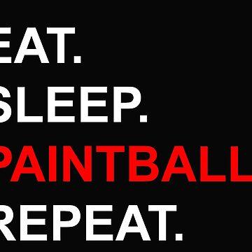 Eat Sleep Paintball Repeat Magfed by Tengelmaker