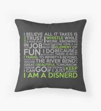 Happiest Fandom on Earth Throw Pillow