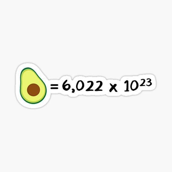 Avogadro Avocado Sticker