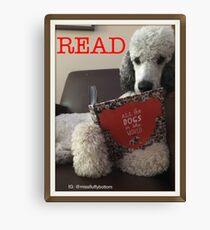 Reading Poodle Canvas Print