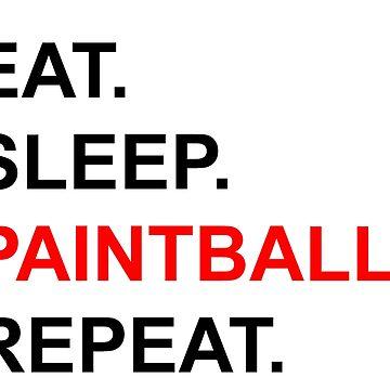 Eat Sleep Paintball Repeat by Tengelmaker